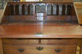 TC Walnut Desk 200+ years old late 1700s handmade dove tails