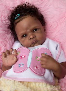 Vinyl Reborn Baby Doll Kit Winnie by Emily Jameson AA African American