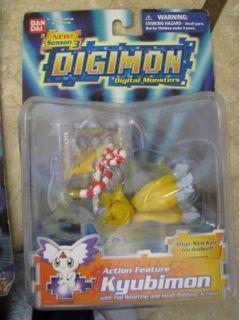 Digimon Action Figures Toy Ban Dai Kyubimon New in Pkg