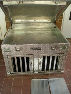 All Aluminum Diamond Plate Dog Kennel Carrier for Truck Bed