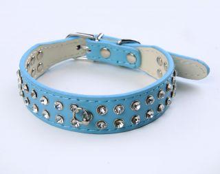 pet collar dog collar leather dog collar rhinestone dog collar