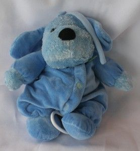 carters child of mine plush blue dog puppy pull toy