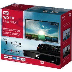 Western Digital WD TV Live Hub Media Center w 1TB Hard Disk Drive HDD