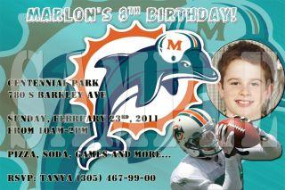 San Diego Chargers Football Custom Birthday Invitations