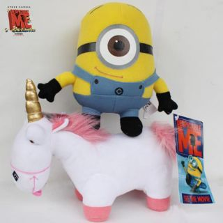 Despicable Me Minions Stewart Unicorn 2X Plush Toy Stuffed Animal