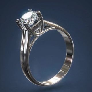 One Carat Diamond Ring 1 3ct D VS2 One 18 K Finger One Dimond Jewlry