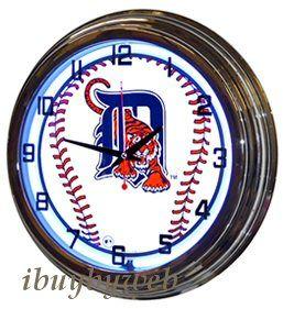 Retro Nostalgic 17 Blue Detroit Tigers Baseball MLB Neon Sign Wall