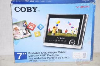 Coby TFDVD7052 7 Inch Portable Tablet DVD/CD/MP3 Player   Black