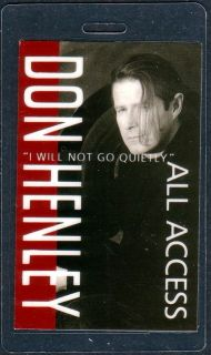 Don Henley Backstage Pass Tour Laminate AA Go Quietly