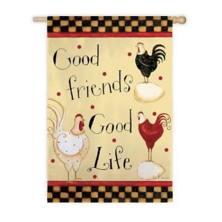Good Friends Roosters DiPaolo Mini Garden Flag