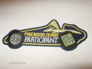 BSA Pinewood Derby Participant Dirt Track Racing Car Patch