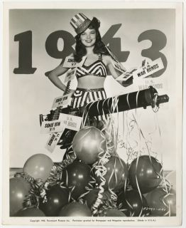 Vintage 1942 Dona Drake Pin Up U s War Bonds Patriotic Photograph