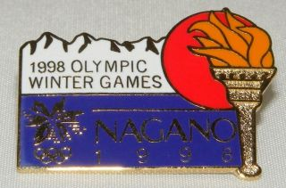 Olympic Collectible Logo Pin Nagano 1998 Olympic Winter Games