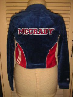 Brand New Adidas Girl Blue Tracy McGrady T Mac Jacket M