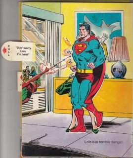 Superman Book Pop Up Pull Out Book 14 Pages 1979 HC