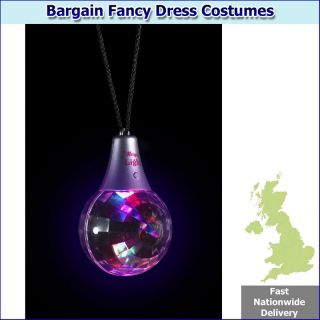 disco ball necklace multifunction light up includes multifunction
