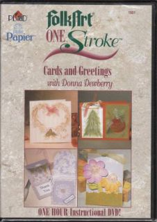 Donna Dewberry One Stroke Cards & Greetings 1hr Instructional DVD Folk