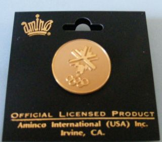 winter olympics silver gold logo pin lapel pin badge usa slc winter