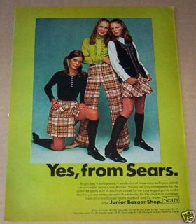 1969 Susan Dey  Junior Bazaar Clothing Vintage Ad