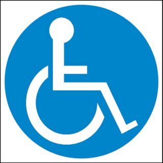 Disabled Disability Wheelchair Car Window Sticker