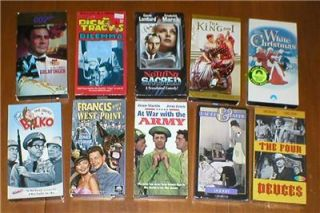 Lot 10 VHS Movie Classics ~ Jerry Lewis, Donald OConnor, Phil Silvers