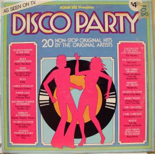 Various Disco Party LP VG A 8021 Vinyl 1975 Record Funk Comp Adam VIII