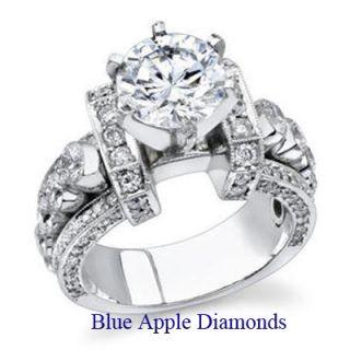 50ct Round Brilliant Cut D Color Diamond Anniversary Ring 18K Gold