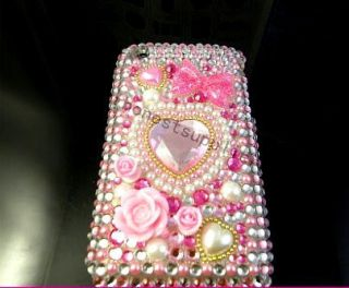 Bling Diamond Crystal Flower Lover Full Hard Cover Case for iPhone 3G