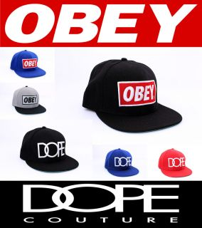 Hot Obey Dope Original Hip Hop Bboys Snapback Cap Hat Colors Free