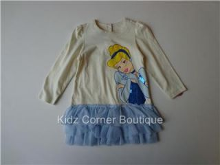 Disney Princess Girls Minnie Cinderella Belle Dora 12 18 24 Months 2T