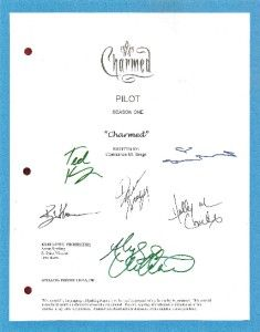 CHARMED SCRIPT PILOT SIGNED 6X RPT SHANNON DOHERTY, ALYSSA MILANO, TED