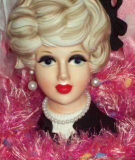 Napco Beauty Doris Day Headvase Head Vase Vintage 1950s Pristine NR