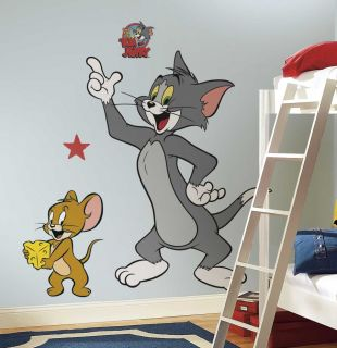 RMK1443GM   Hanna Barbera Tom & Jerry Giant Wall Decals Stickers Decor