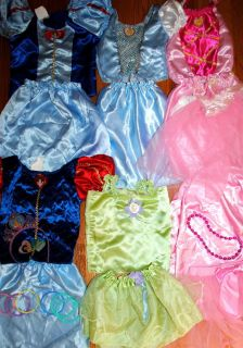 Disney Princess DRESS UP costume lot sz 4 5 6 Snow White Cinderella