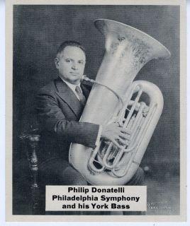 1940s Photo Philip Donatelli Philadelphia Symphony Bass Player