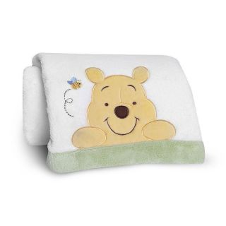Disney Baby Peeking Pooh and Friends Embroidered Boa Blanket