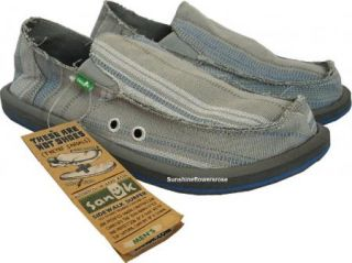 Sanuk Donny Mens Sidewalk Surfer Shoes Sandals Gray New 10