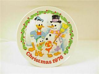 Schmid Walt Disney Christmas Collector Plate 1976 W/ Original Box and