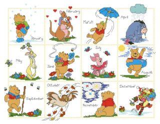 Cross Stitch Kits Disney Winnie The Pooh Friends Calendar