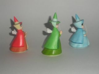 Walt Disney Fairy Flora Fauna & Merryweather Figurines Sleeping Beauty