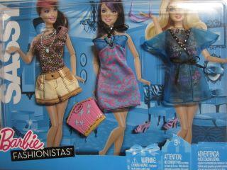 New 10 Barbie Fashionistas Fashion Fever Clothes Shoes
