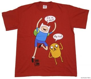 Licensed Adventure Time Finn IM on A Shirt Jake Me Too Bubbles Kids