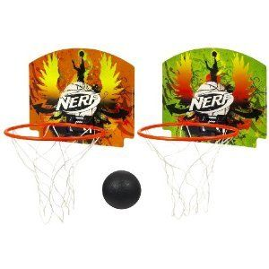 Hasbro Nerf Door Or Wall Mount Mini Basketball Complete Set Hoops Nets