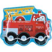 Fire Engine Fun Plastic Plate