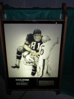 Doug Atkins Chicago Bears Hall of Fame Piece Artwork from Enshrinement