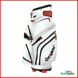 Golf Cart Bag White 14 Way Dividers Lots of Features CGB3 Wht