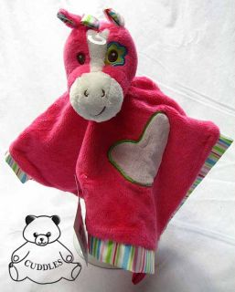 Pink Horse Snuggler Baby Blanket Douglas Cuddle Plush Toy Stuffed