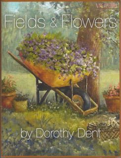 Fields Flowers Painting Pattern Book by Dorothy Dent Oils