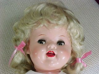 Ideal 22 Saucy Walker Doll Blonde Wig Green Eyes Vintage 1950s