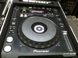 one Pioneer CDJ 850 black DJ Performance Player CDJ850 with ODYSSEY